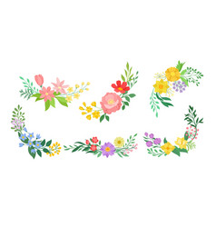 floral arrangement with twigs and flowers vector image