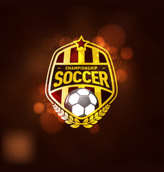 football soccer championship logo design template vector image