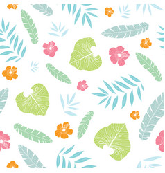 fun tropical summer hawaiian seamless vector image