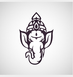 Ganesha icon vector