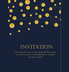 gold polka dot decoration vector image