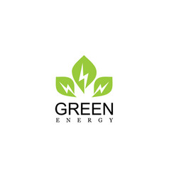 green leaf energy logo vector image