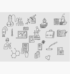 hand drawn doodle chemistry education and science vector image
