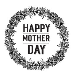 Happy mother day calligraphy background vector