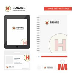 Hospital business logo tab app diary pvc employee vector