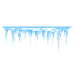 Icicles cluster in row isolated vector