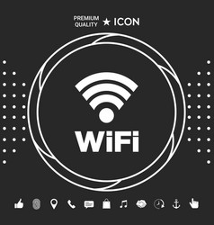 Internet connection symbol icon graphic elements vector