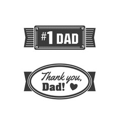 Isolated happy fathers day quotes on the white vector