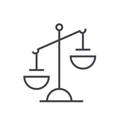 Justice sign line icon sign vector