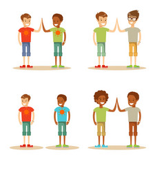 kids high five vector image