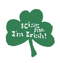 Kiss me i am irish lettering t-shirt design vector