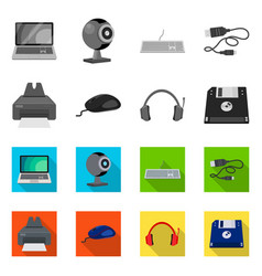 laptop and device sign set vector image