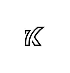 Letter 7k typo logo vector