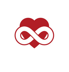 Love forever conceptual sign symbol created vector
