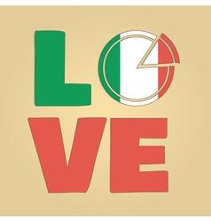 Love Italy vector