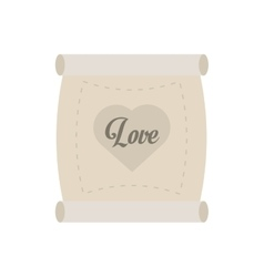 love parchment message heart vector image
