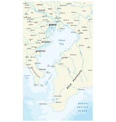 Map bay tokyo vector