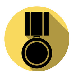 medal sign flat black icon vector image