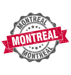 Montreal round ribbon seal vector