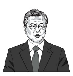 Moon jaein the president of south korea vector