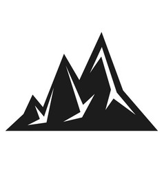 mountain black icon scenery and expedition symbol vector image
