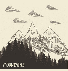 mountain nature5 vector image
