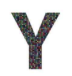Multicolor letter Y vector