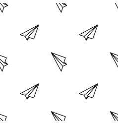 Origami paper plane vector image