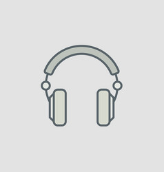 Over-ear headphones icon or symbol vector