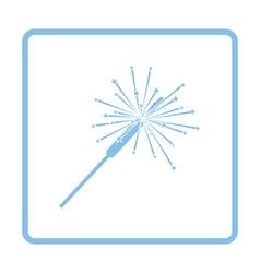 Party sparkler icon vector