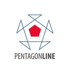 pentagon line logo concept design symbol graphic vector image