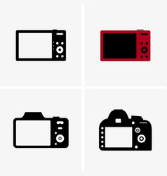 photo cameras back view vector image