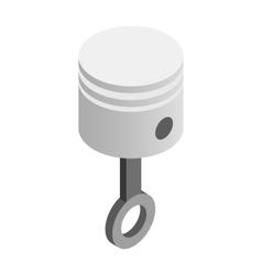 Piston isometric 3d icon vector