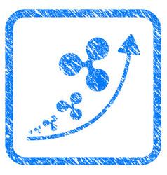 ripple inflation trend framed stamp vector image