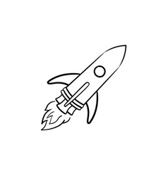 rocket hand drawn outline doodle icon vector image