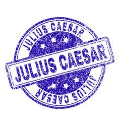 Scratched textured julius caesar stamp seal vector