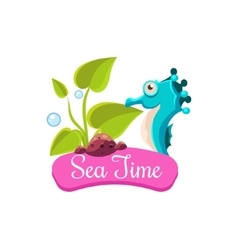 Sea Time Summer Vacation vector