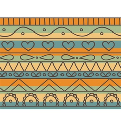 Seamless happy vintage vector
