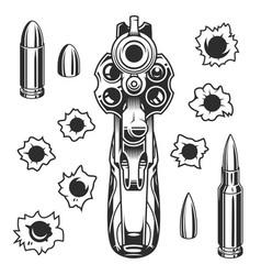 Set of bullet holes vector