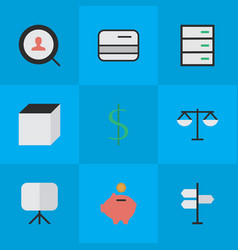 set of simple job icons vector image