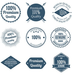set premium quality badges and labels design vector image
