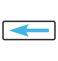 Sharp Arrow Left Framed Icon vector