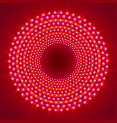show light circle red background vector image