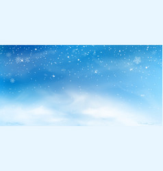 snow winter background christmas sky landscape vector image