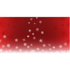 snowflake bg red vector image