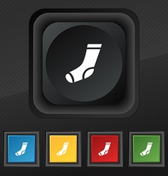 Socks icon symbol Set of five colorful stylish vector