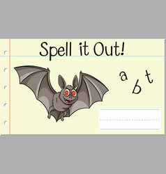 Spell it out bat vector