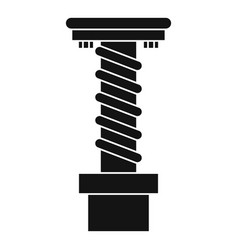 Spiral tool icon simple style vector