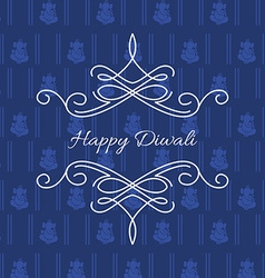 stylish card of diwali vector image vector image
