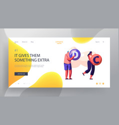super food healthy nutrition website landing page vector image